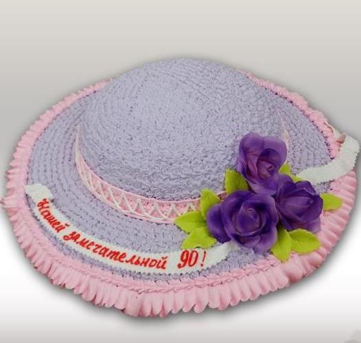 Торт женская шляпа