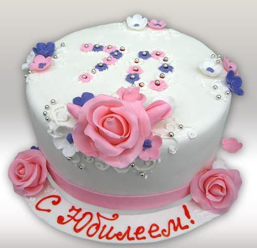 Торт на юбилей 70 лет