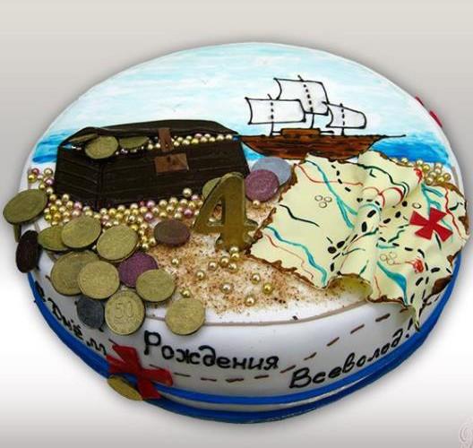 Торт сокровище пиратов