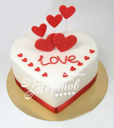 Торт сердечко LOVE