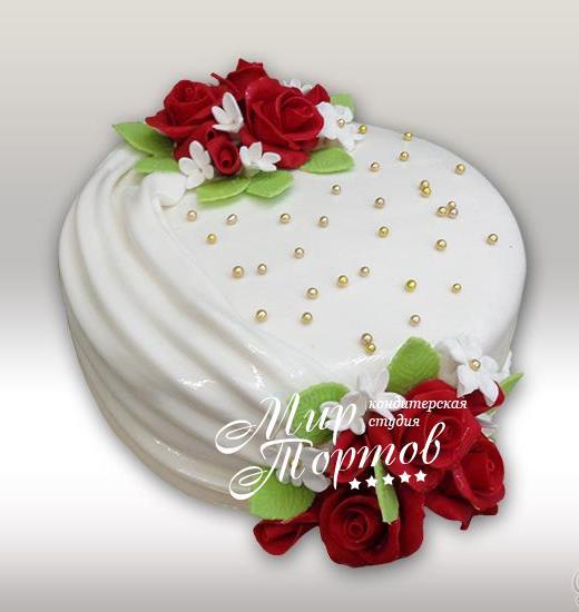Торт с жемчугами