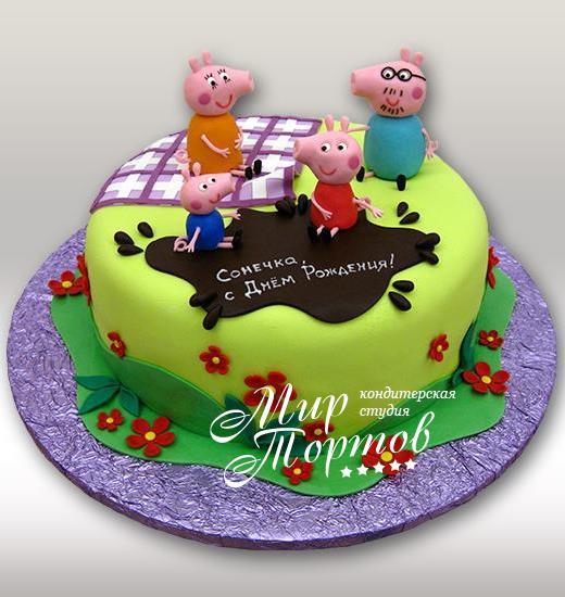Торт свинки пеппы